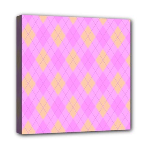 Plaid Pattern Mini Canvas 8  X 8  by Valentinaart