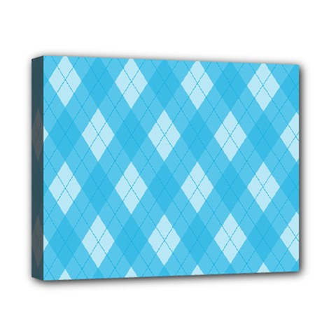 Plaid Pattern Canvas 10  X 8  by Valentinaart