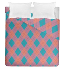 Plaid Pattern Duvet Cover Double Side (queen Size) by Valentinaart