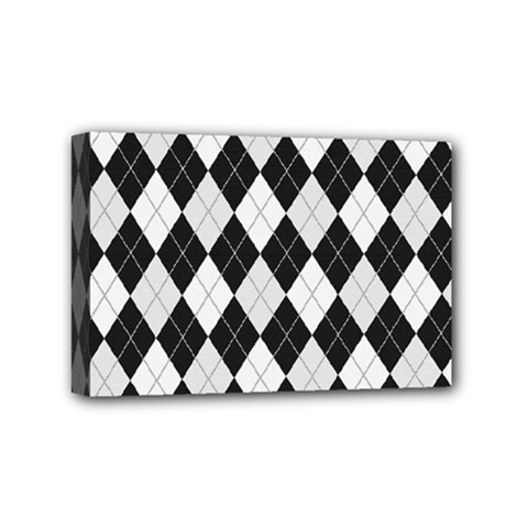 Plaid Pattern Mini Canvas 6  X 4  by Valentinaart
