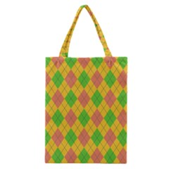 Plaid Pattern Classic Tote Bag by Valentinaart