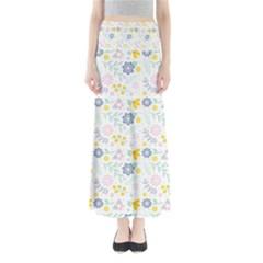Vintage Spring Flower Pattern  Maxi Skirts by TastefulDesigns