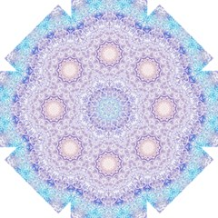 India Mehndi Style Mandala   Cyan Lilac Straight Umbrellas by EDDArt