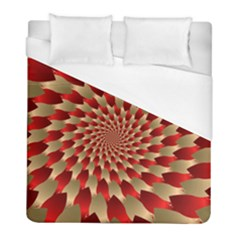 Fractal Red Petal Spiral Duvet Cover (full/ Double Size) by Amaryn4rt