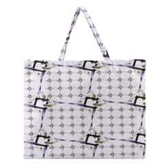 Fractal Design Pattern Zipper Large Tote Bag by Amaryn4rt