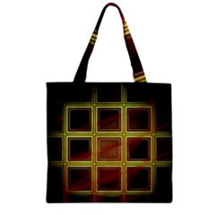 Drawing Of A Color Fractal Window Zipper Grocery Tote Bag by Amaryn4rt