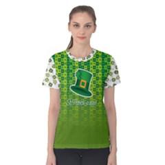 St Patricks Day, Women s Cotton Tee by PattyVilleDesigns