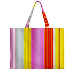 Multi Colored Bright Stripes Striped Background Wallpaper Zipper Mini Tote Bag by Amaryn4rt