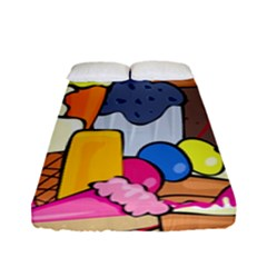 Sweet Stuff Digitally Created Sweet Food Wallpaper Fitted Sheet (full/ Double Size) by Amaryn4rt