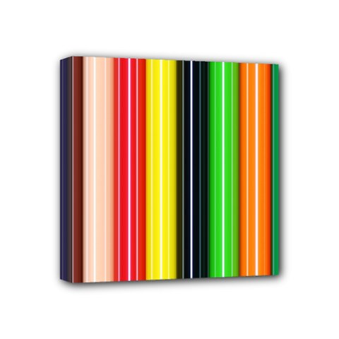 Colorful Striped Background Wallpaper Pattern Mini Canvas 4  X 4