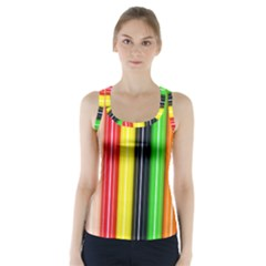 Colorful Striped Background Wallpaper Pattern Racer Back Sports Top by Amaryn4rt