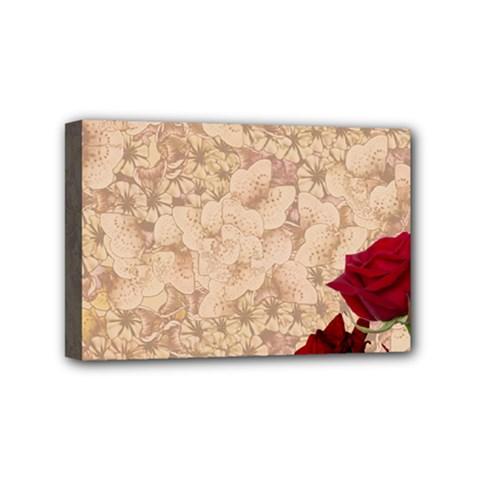 Retro Background Scrapbooking Paper Mini Canvas 6  X 4  by Amaryn4rt
