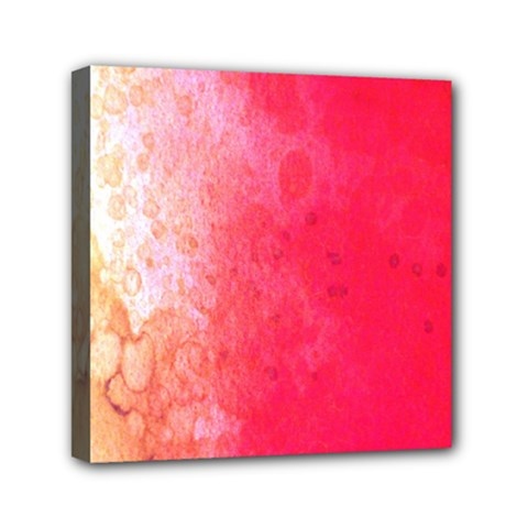 Abstract Red And Gold Ink Blot Gradient Mini Canvas 6  X 6  by Amaryn4rt