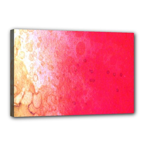 Abstract Red And Gold Ink Blot Gradient Canvas 18  x 12  by Amaryn4rt