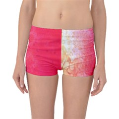 Abstract Red And Gold Ink Blot Gradient Boyleg Bikini Bottoms