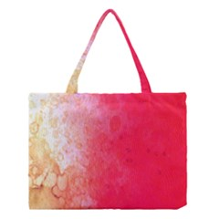 Abstract Red And Gold Ink Blot Gradient Medium Tote Bag by Amaryn4rt