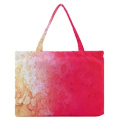 Abstract Red And Gold Ink Blot Gradient Medium Zipper Tote Bag