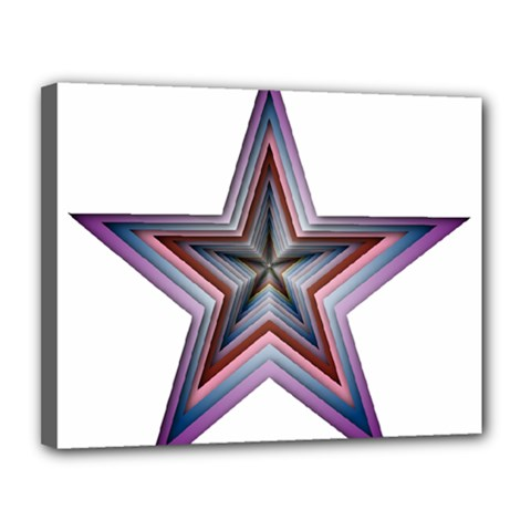 Star Abstract Geometric Art Canvas 14  X 11  by Amaryn4rt