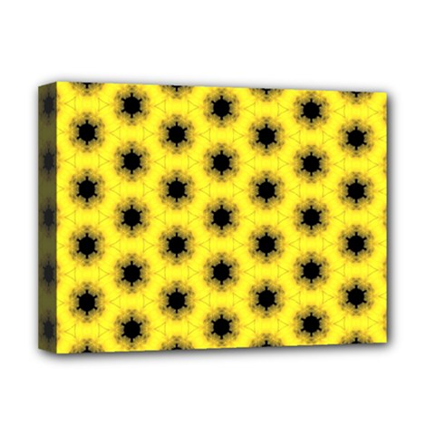 Yellow Fractal In Kaleidoscope Deluxe Canvas 16  X 12   by Amaryn4rt
