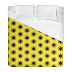 Yellow Fractal In Kaleidoscope Duvet Cover (full/ Double Size) by Amaryn4rt