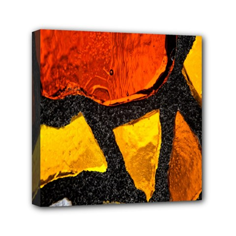 Colorful Glass Mosaic Art And Abstract Wall Background Mini Canvas 6  X 6  by Amaryn4rt