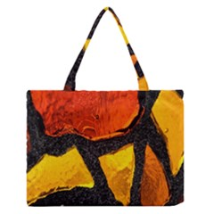 Colorful Glass Mosaic Art And Abstract Wall Background Medium Zipper Tote Bag by Amaryn4rt