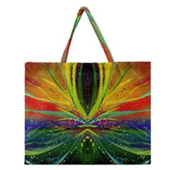 Future Abstract Desktop Wallpaper Zipper Large Tote Bag by Amaryn4rt
