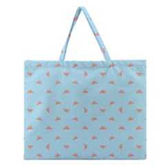 Spaceship Cartoon Pattern Drawing Zipper Large Tote Bag by dflcprints