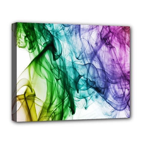 Colour Smoke Rainbow Color Design Deluxe Canvas 20  X 16   by Amaryn4rt
