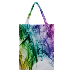 Colour Smoke Rainbow Color Design Classic Tote Bag by Amaryn4rt