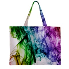 Colour Smoke Rainbow Color Design Medium Tote Bag by Amaryn4rt