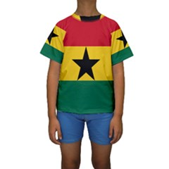 Flag Of Ghana Kids  Short Sleeve Swimwear by abbeyz71