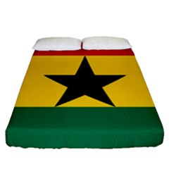 Flag Of Ghana Fitted Sheet (queen Size) by abbeyz71