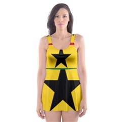 Flag Of Ghana Skater Dress Swimsuit by abbeyz71