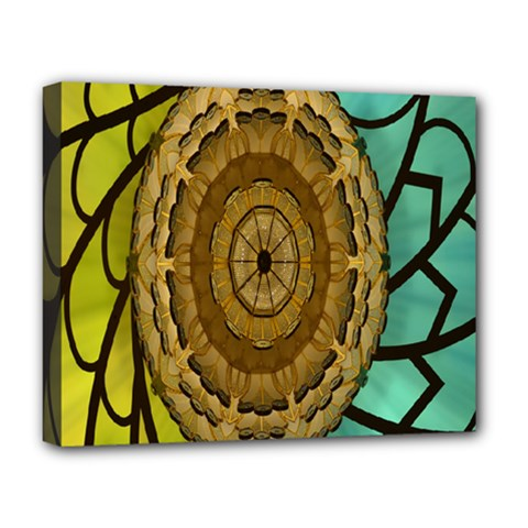 Kaleidoscope Dream Illusion Deluxe Canvas 20  X 16   by Amaryn4rt