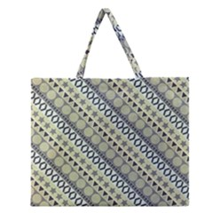 Abstract Seamless Pattern Zipper Large Tote Bag by Amaryn4rt