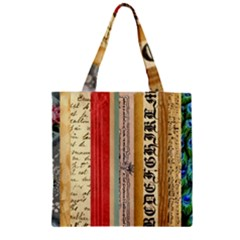Digitally Created Collage Pattern Made Up Of Patterned Stripes Zipper Grocery Tote Bag by Amaryn4rt