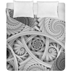 Fractal Wallpaper Black N White Chaos Duvet Cover Double Side (california King Size) by Amaryn4rt