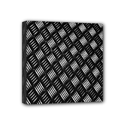 Abstract Of Metal Plate With Lines Mini Canvas 4  X 4  by Amaryn4rt