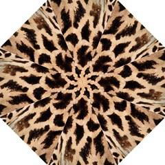 Yellow And Brown Spots On Giraffe Skin Texture Hook Handle Umbrellas (medium) by Amaryn4rt