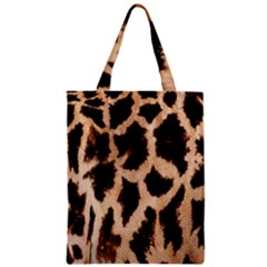 Yellow And Brown Spots On Giraffe Skin Texture Zipper Classic Tote Bag by Amaryn4rt