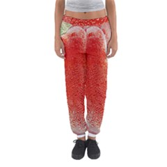 Red Pepper And Bubbles Women s Jogger Sweatpants by Amaryn4rt