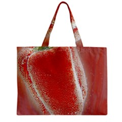 Red Pepper And Bubbles Zipper Mini Tote Bag by Amaryn4rt