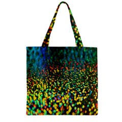 Construction Paper Iridescent Zipper Grocery Tote Bag by Amaryn4rt