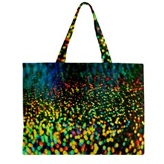 Construction Paper Iridescent Zipper Mini Tote Bag by Amaryn4rt