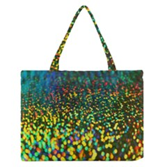 Construction Paper Iridescent Medium Zipper Tote Bag by Amaryn4rt