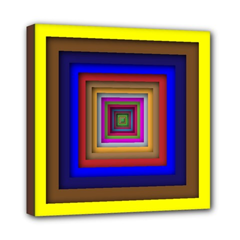 Square Abstract Geometric Art Mini Canvas 8  X 8  by Amaryn4rt