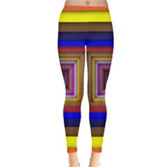 Square Abstract Geometric Art Leggings