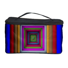 Square Abstract Geometric Art Cosmetic Storage Case by Amaryn4rt