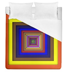 Square Abstract Geometric Art Duvet Cover (queen Size) by Amaryn4rt